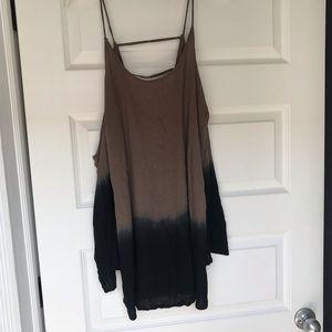 O'Neill Black/ Brown Ombré Beach Dress
